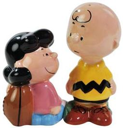 Peanuts - Lucy & Charlie Brown Football Salt &
