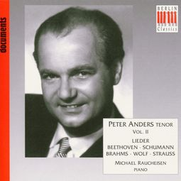 Peter Anders, Tenor, Volume 2: Lieder