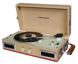 Crosley CR40-RE Mini Turntable (Red & Tan)
