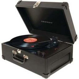 Crosley CR49-BK Traveler Turntable - Black