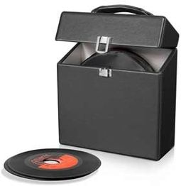 Crosley CR4006A-BK Platter Pak 45 RPM Case - Black