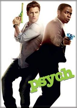 "Psych - With Guns Photo Magnet 2 1/2"" x 3 1/2"""