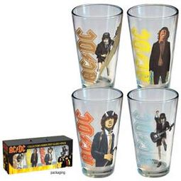 AC/DC - Retro 4-Pack Pint Glasses