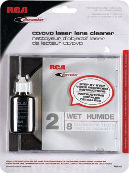 RCA Discwasher RD-1142 2-Brush Wet CD/DVD Laser
