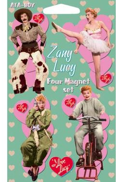 I Love Lucy - Zany Lucy - 4-Piece Magnet Set