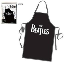 The Beatles - Drop T Logo: Black Apron