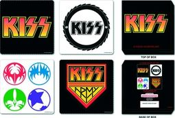 KISS - 6-Piece Coaster Set In Collectible Tin