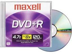 Maxell 16x Write-Once DVD+R (Single With Jewel