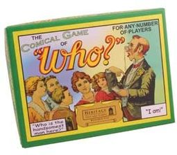 Retro Toy - The Comical Game of Who? Vintage Game