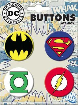 DC Comics - Logos - 4-Piece Round Button Set