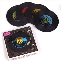 Retro Vinyl - 4-Piece 45RPM Record Coasters