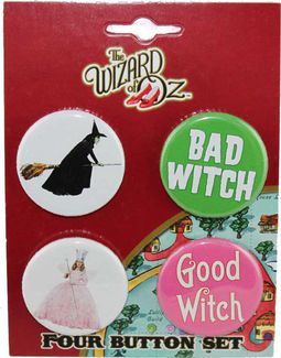 Witches - Carded 4 Button Set