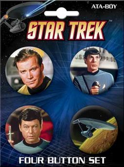 Star Trek - Cast Carded 4 Button Set