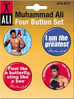 Muhammad Ali - Carded 4 Button Set