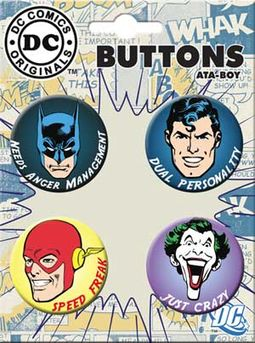 Superheroes Have Issues - 4-Piece Round Button Set