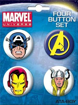 Avengers Carded 4 Button Set