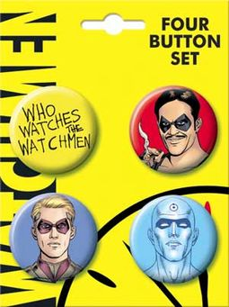 Watchmen - Carded 4 Button Set