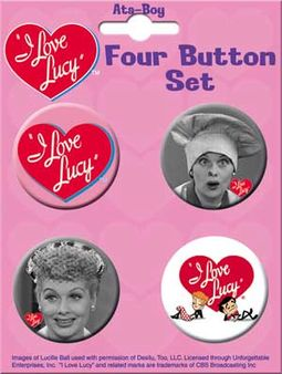 I Love Lucy - 4-Piece Round Button Set