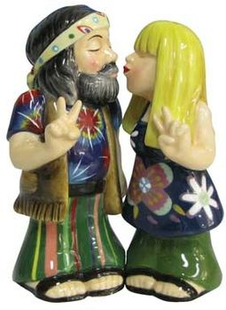 Hippie Couple - Salt & Pepper Shakers