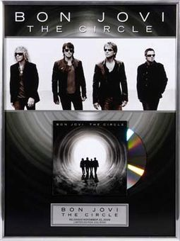 "Bon Jovi - The Circle: Framed 12""x26"" Gold CD"