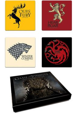 Game of Thrones - 4-Piece Coaster Set