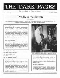 The Dark Pages: The Newsletter for Film Noir