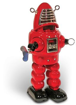 Robot - Clockwork Tin Robot Red