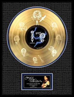 "Framed 16""x20"" Etched Gold Plated LP (Limited"