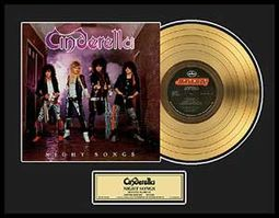 "Cinderella - Night Songs: Framed 18""x24"" Gold LP"