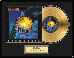 "Pyromania: Framed 18""x24"" Gold Record (Limited"