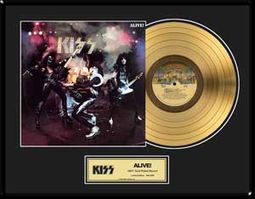 "Alive - Framed Limited Edition 18"" x 24"" Gold LP"