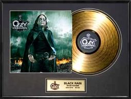 "Black Rain: Framed 18""x24"" Gold LP (Limited"