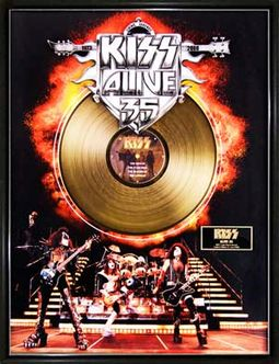 "KISS - Alive 35 - Framed Limited Edition 18"" x"