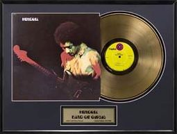 Jimi Hendrix - Band of Gypsys: Framed Gold Record