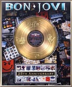 "Bon Jovi - 25th Anniversary: Framed 20""x24"" Gold"