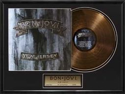 "Bon Jovi - New Jersey: Framed 20""x24"" Gold LP"