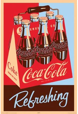 "Coca-Cola - Refreshing Poster (24"" x 36"")"