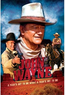 "John Wayne - Movie Poster (24"" x 36"")"