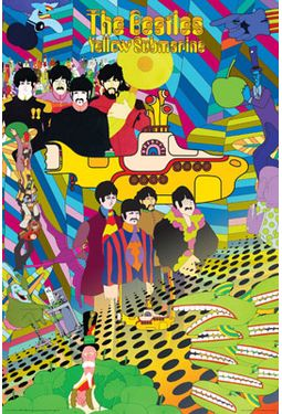 The Beatles - Yellow Submarine: Collage Poster
