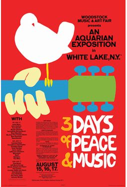 "Woodstock - Red Poster (24""x36"")"