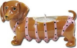 Puppy - Dachshund - Pink Bikini Tea Light Candle