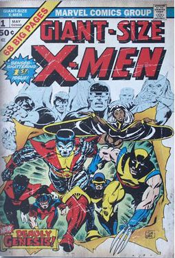 Marvel Comics - X-Men - #1 13 x 19 Printed Wood