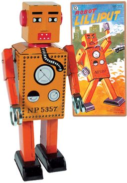 Lilliput Robot (Large) Tin Toy