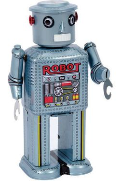 Wind-Up Robot Tin Toy