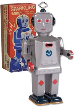 Retro Toy - Sparkling Mike Robot Tin Toy