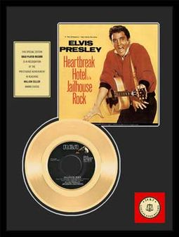 "Heartbreak Hotel - Framed 12"" x 16"" Gold Record"