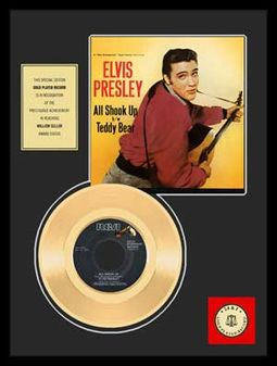 "All Shook Up - Framed 12"" x 16"" Gold Record"