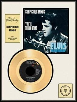 "Suspicious Minds - Framed 12"" x 16"" Gold Record"