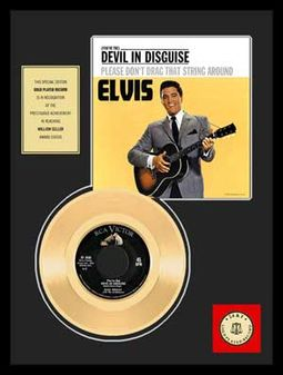 "Devil in Disguise - Framed 12"" x 16"" Gold Record"