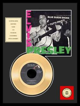 "Blue Suede Shoes - Framed 12"" x 16"" Gold Record"
